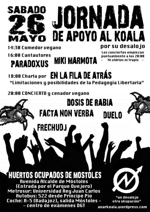 Jornada sábado 26 de mayo 2012 en apoyo al KOALA